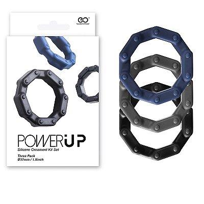 Kit de Anéis Penianos de Silicone Power Up 3 unidades - NAN099