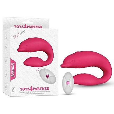 Vibrador para Casais com Formato Golfinho com 10 Modos de Vibração - TOYZ4PARTNER - CD030