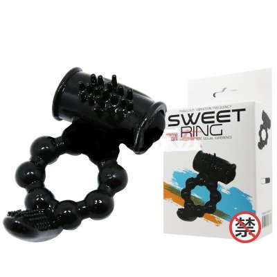 SWEET RING Anel peniano com estimulador de clítoris e períneo com vibração única - BI0140751