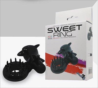 SWEET RING Anel peniano com estimulador de clítoris e períneo com vibração única - BI010133-2
