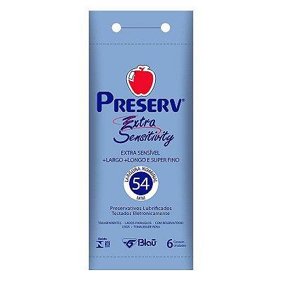 Preservativo Preserv Extra Sensitivy com 6 Unidades