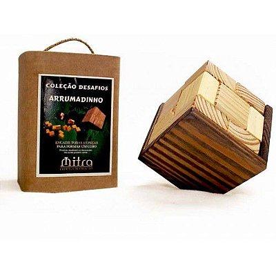 Quebra Cabeça Arrumadinho em Madeira Desafio Mitra - RR005106