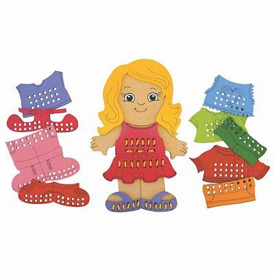Alinhavos Brincando de Costurar - Ref 241  Menina - RR003025