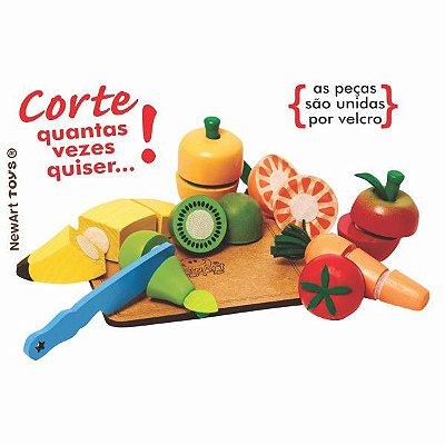 Kit Frutinha com Corte - Coleção Comidinhas - Frutas com Velcro