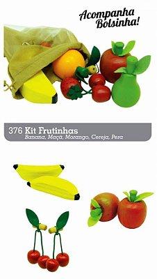 Coleção Comidinhas Kit Frutinha de Madeira -  Brincando com Frutas - RR003030