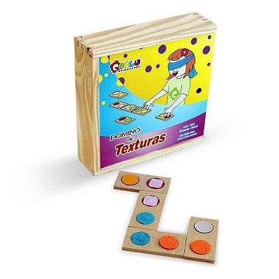 Braille Dominó Texturas ( E.V.A , Lixa, Feltro, Velcro e Carapinha) MDF  - RR002004