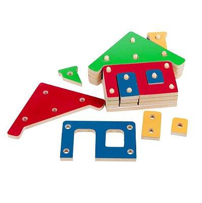 Troque e Encaixe as Cores - Casa - Montar e Encaixar Pedagógico - RR002018