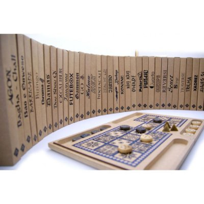 Enciclopédia Jogos - Coleção de  Jogos de Tabuleiro - 36 Jogos de vários Países - R005010