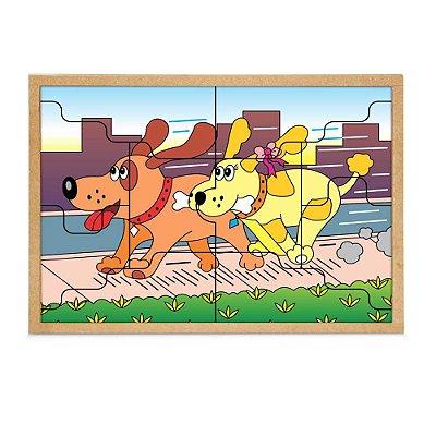 Quebra-Cabeça Casal Cachorros   10 peças- RR002048