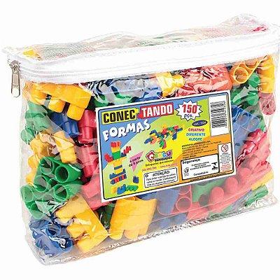Brinquedo Pedagógico - Conectando Formas - 150 Peças - RR002090