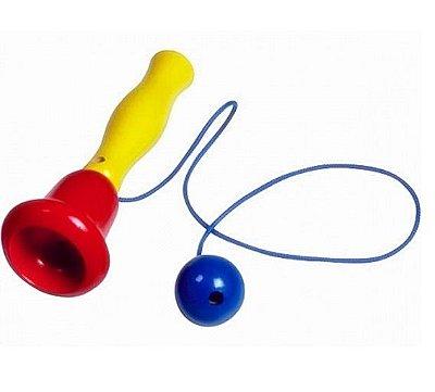 Biloquê de Madeira - Colorido - Marca NewArt Toys - RR003009
