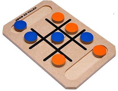 Jogo da Velha - Peças em madeira - RR001012