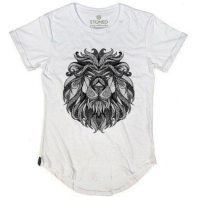 Camiseta Longline Tribal Lion
