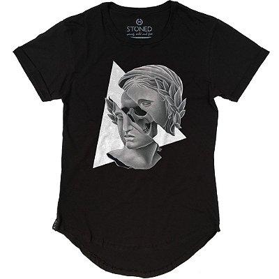 Camiseta Longline Skull Real