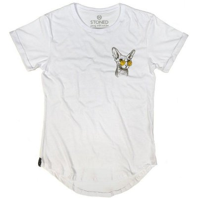 Camiseta Longline Yellow Cat