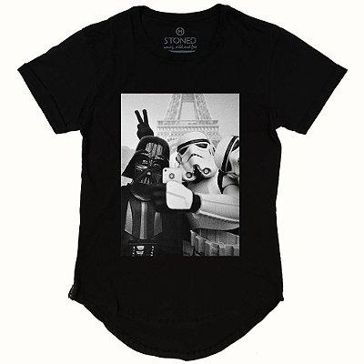 Camiseta Longline Star Wars Selfie