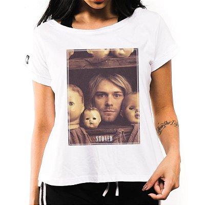 Camiseta Feminina Kurt Kobain