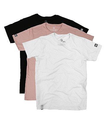 Kit - 3 Camisetas Confort Lisas