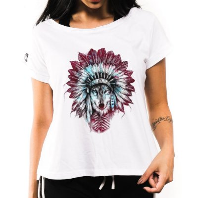 Camiseta Feminina Indian Wolf