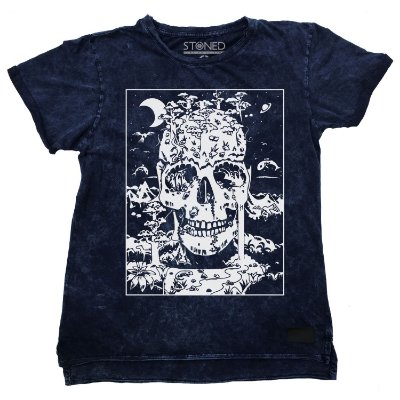 Camiseta Longline Estonada Skull