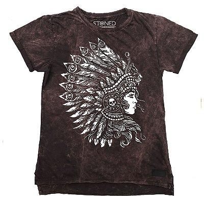 Camiseta Longline Estonada Headdress