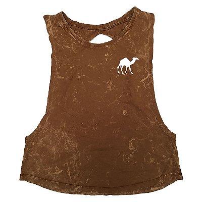 Regata Feminina Estonada Camel