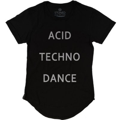Camiseta Longline Acid, Techno & Dance
