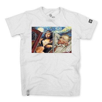 Camiseta Masculina Van Gogh x Monalisa