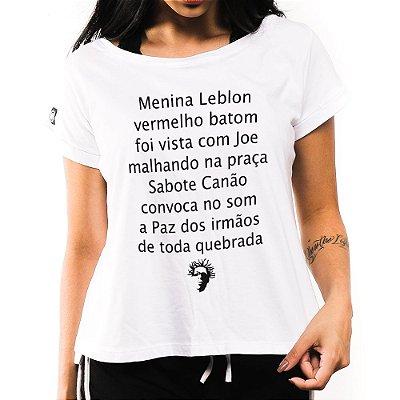 Camiseta Feminina Menina Leblon