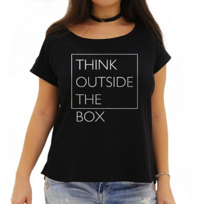 Camiseta Feminina Think Outside the Box