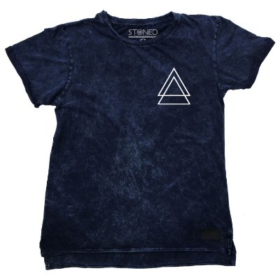 Camiseta Longline Estonada Triple Triangle