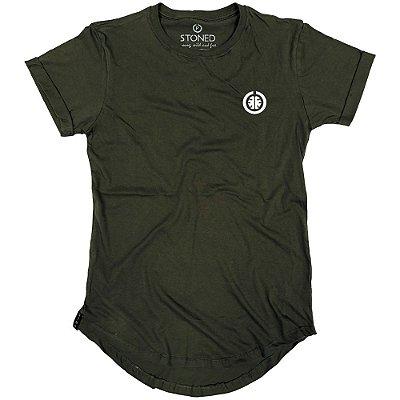 Camiseta Longline Basic Verde