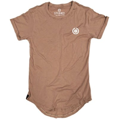 Camiseta Longline Basic Bege