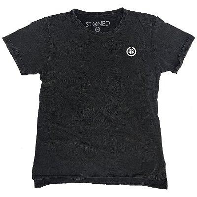 Camiseta Longline Estonada Basic Cinza
