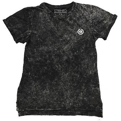 Camiseta Longline Estonada Basic Preta