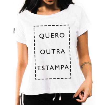 Camiseta Feminina Escolha a Estampa