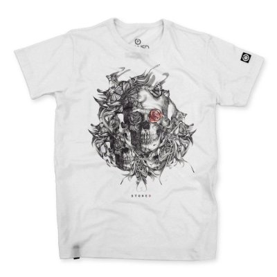 Camiseta Masculina Skull Rose
