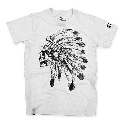Camiseta Masculina Indian Chief Skull