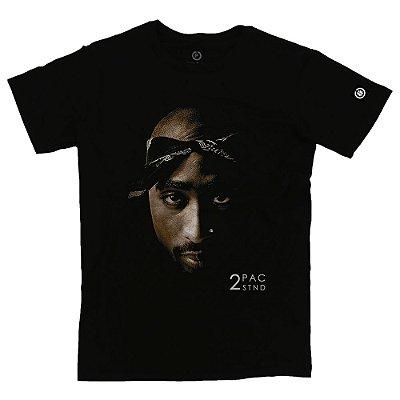 Camiseta Masculina Face 2Pac