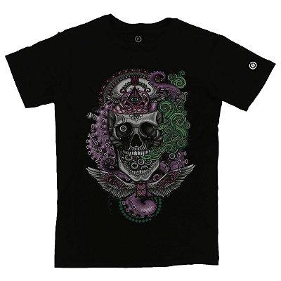 Camiseta Masculina Crazy Skull