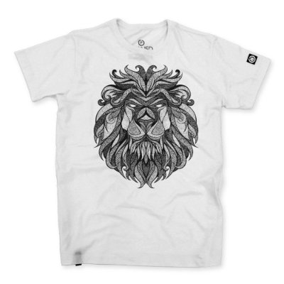 Camiseta Masculina Tribal Lion