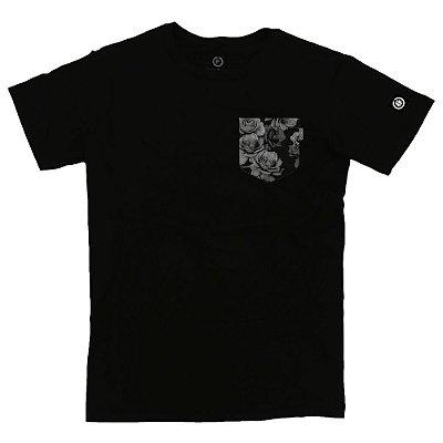 Camiseta Masculina Fake Pocket Flowers