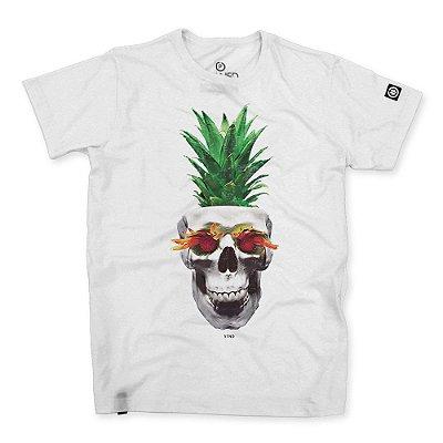 Camiseta Masculina Pineapple Skull
