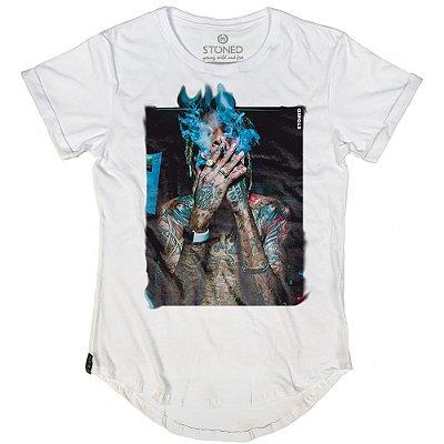 Camiseta Longline Wiz Khalifa Smoke