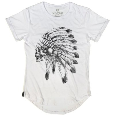 Camiseta Longline Indian Chief Skull
