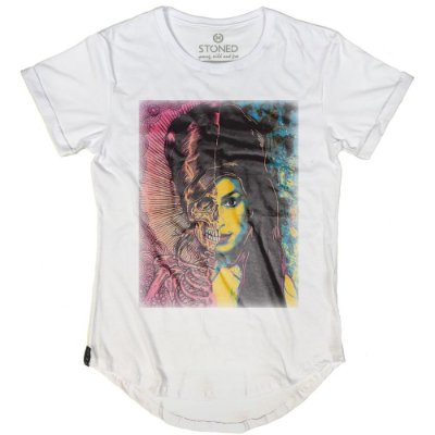 Camiseta Longline Amy Winehouse