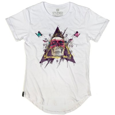 Camiseta Longline Skull Colors