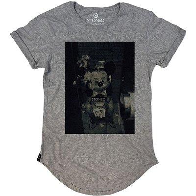 Camiseta Longline Stoned Mickey