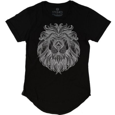 Camiseta Longline Tribal Lion