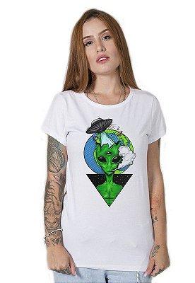 Camiseta Feminina Alien Draw